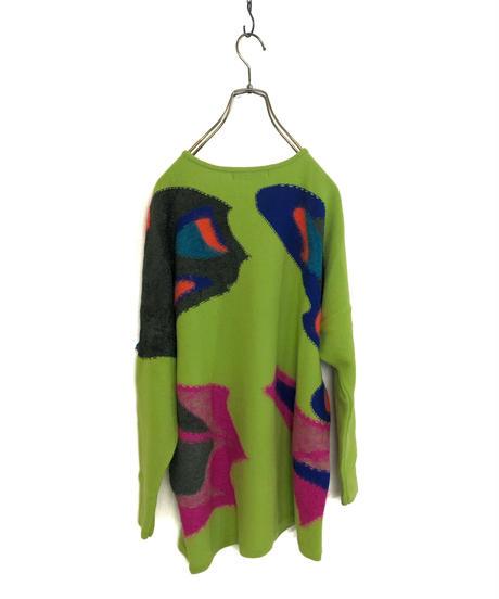 HIROKO KOSHINO lime green butterfly knit-1534-11
