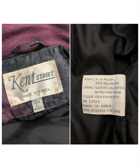 Kent street batting nylon vintage jacket-1516-11