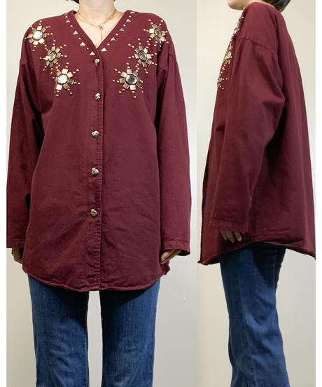 DIMENSION MADE IN U.S.A vintage shirt jacket-1679-2