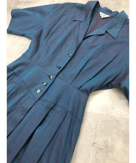 VOIR majora color open collar cotton dress-1891-5
