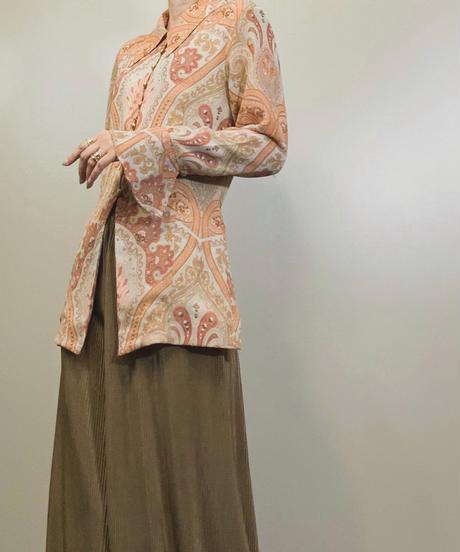 RECIPE orange color long shirt-1257-7