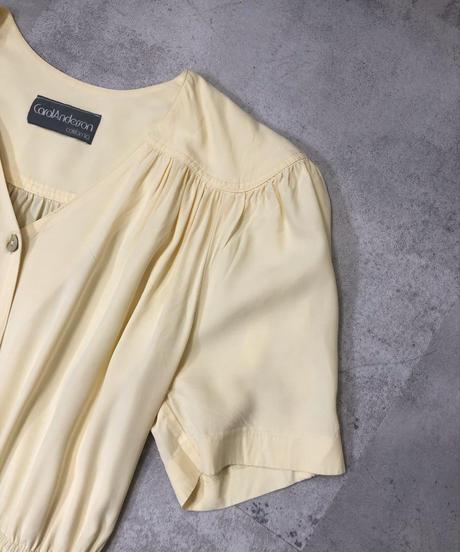 CorolAnderson cream yellow rétro dress-1170-6