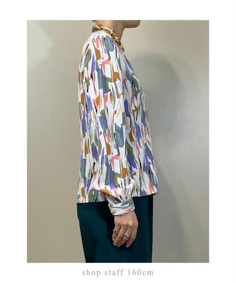 Artistic design v neck rétro tops-2210-10