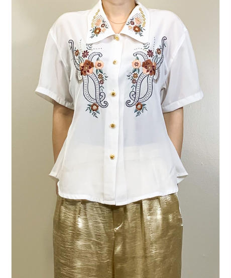 Hueiyih male phoenix bird embroidery shirt-1272-7
