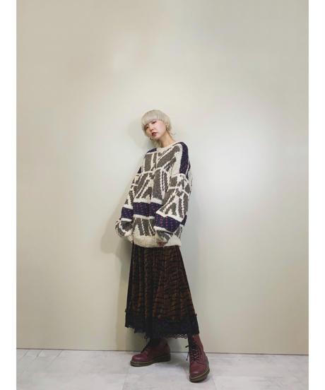 WOOLIES HANDMADE IN ECUADOR wool100% knit -1541-12