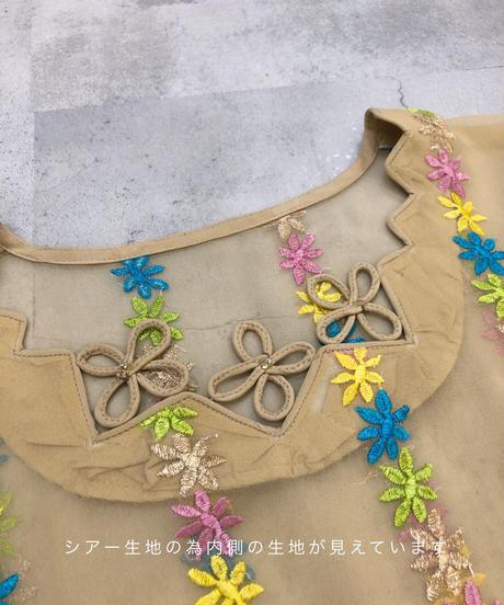 Exotic costume sheer design stall set tunic-1919-5