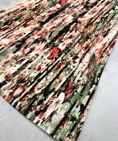 Pale multi color artistic flare dress-1761-3