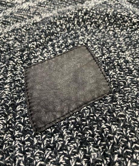 method black&white acrylic knit-2183-9