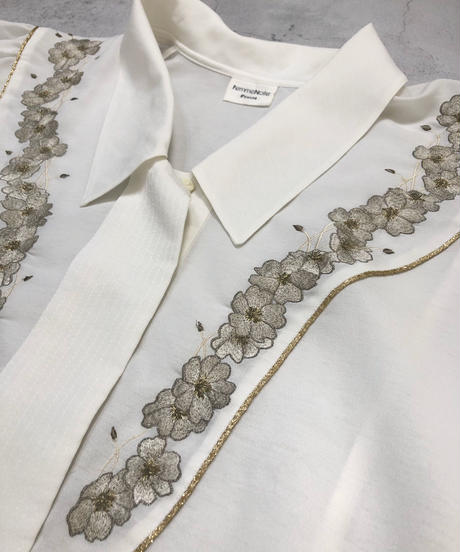 Femme Noire blanche embroidery shirt-1946-6
