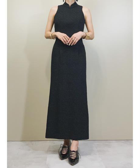 BOUTIQUE MUGEN black flower elegant dress-1737-3
