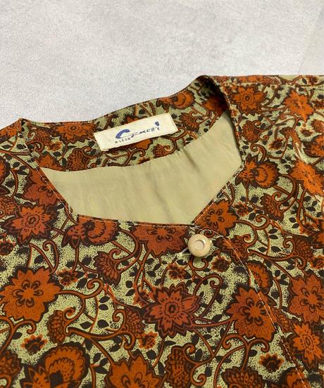 Cormetti madam brown flower dress-2156-Kj