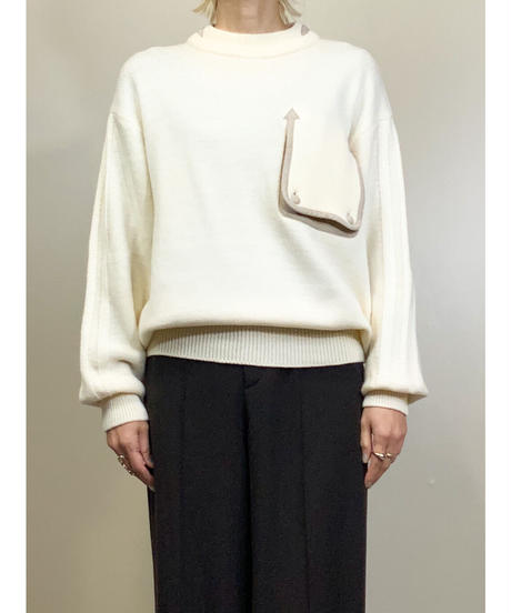 DOLCE WITH MUCH INTEREST  arrow design pocket knit-1530-11