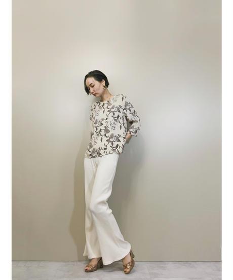 Elegant flower silk ensemble tops-1346-9