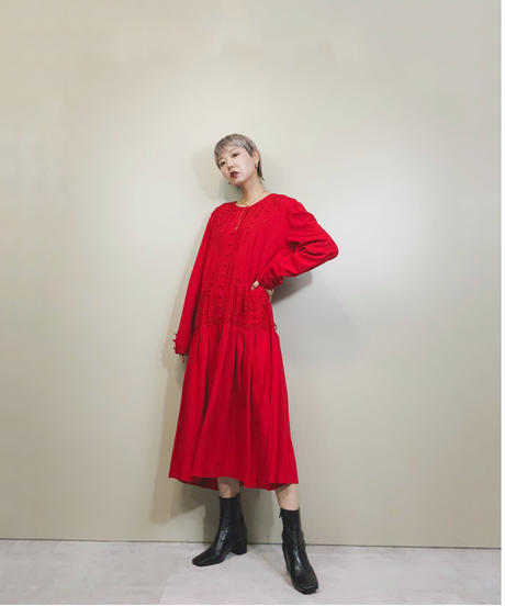 Tarah  Eligabeth red color import dress-1680-2