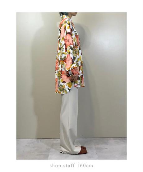 Botanical flower over size import shirt-2152-9