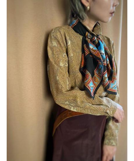JOLIET Jacquard fabric scarf set shirt-2198-9