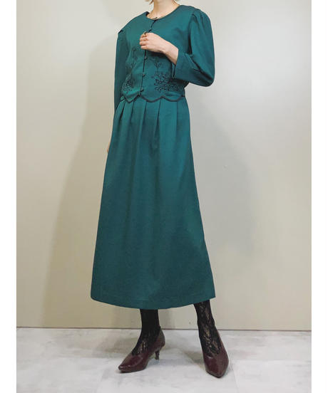 Miss Dorby PETITES vintage long dress-1423-9