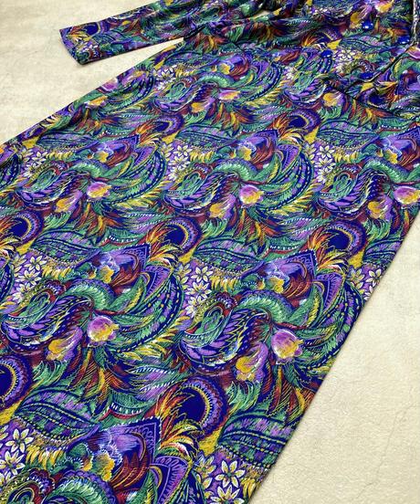 MADE IN FRANCE botanical pattern dress-1666-2