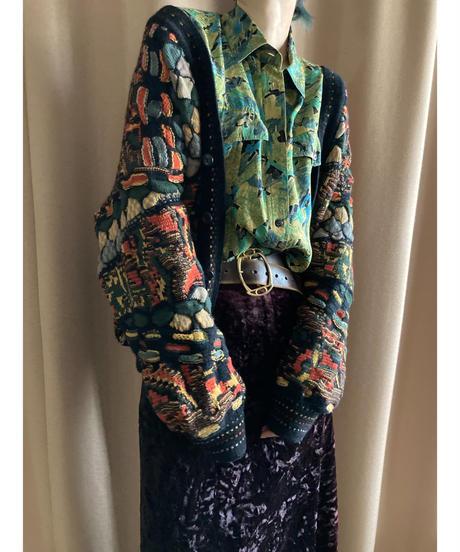 MADE IN AUSTRALIA 3D knit cardigan-2175-9