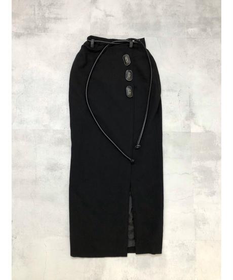 GIANFRANCO EERRE MADE IN ITALY slit skirt-1826-4