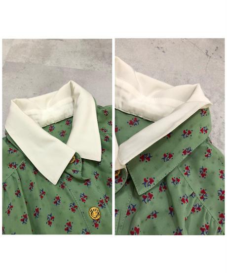 Pale color rétro pleated design dress-1794-4