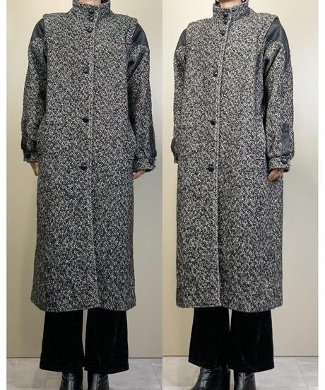 PARIS SPORT CLUB UNIVERSAL leather  sleeve coat-1489-10