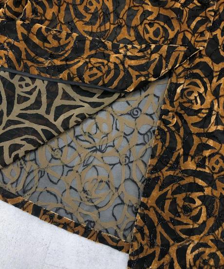 remalon velor rose sheer long jacket-1741-3