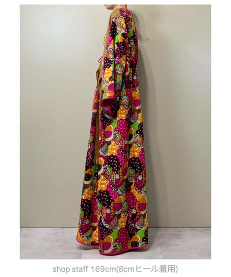 Hippie design bright color import maxi dress-2148-9