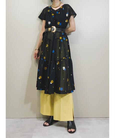 True-Born black rétro tiered dress-1963-6