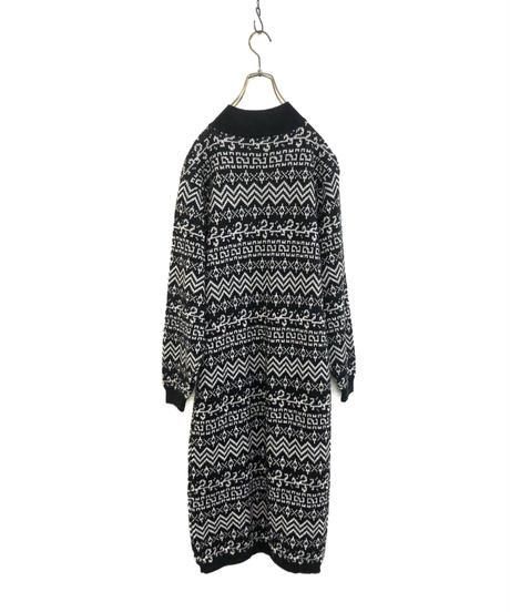 CEST eccentric pattern knit dress-1598-1