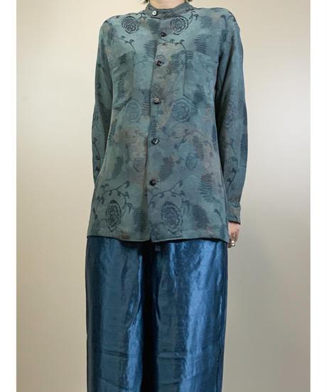 Hashimoto  jacquard  band collar shirt-1787-3