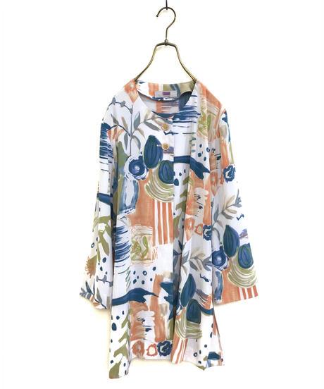 adoral artistic watercolor shirt jacket-1376-9