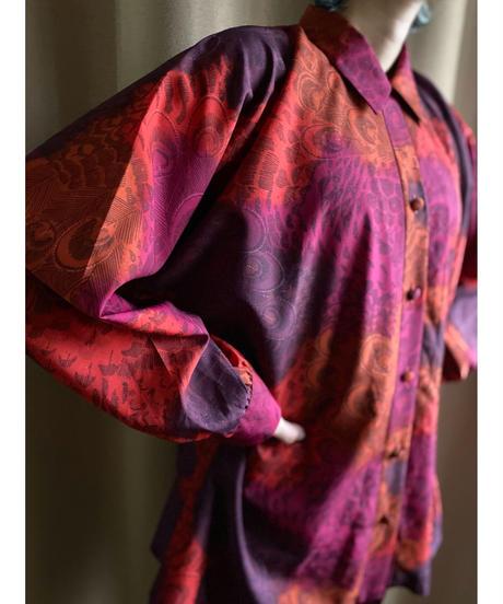 FABRIQUE IN FRANCE peacock design shirt-2155-9