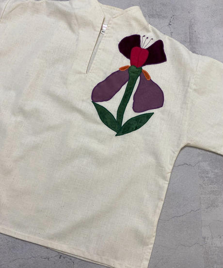 Polywog's rétro flower import tops-2058-7