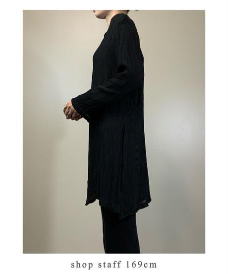B5co.ltd.long black sheer shirt-2159-9