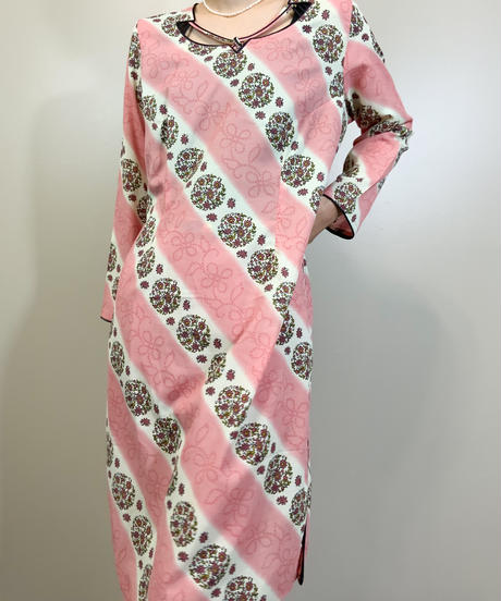 Ethnic design import traditional pink set up-1902-5