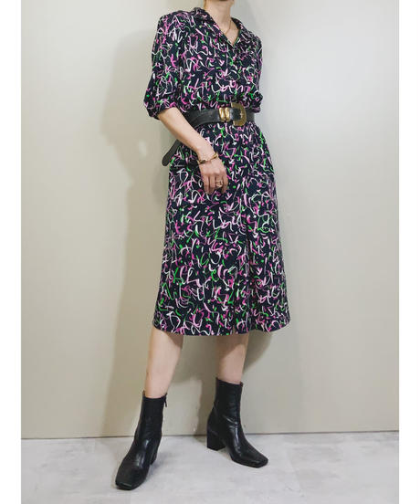 MADE IN ITALY VALDI painting design dress-1940-6