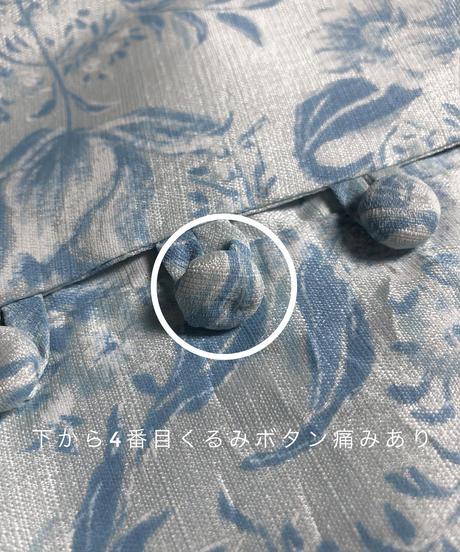 Pale color floral vintage maxi dress-1815-4