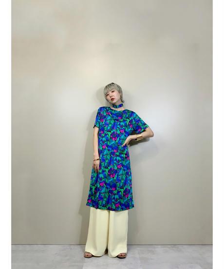 Botanical flower bright color dress-2034-7