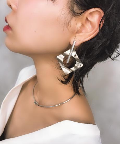 COLLENTE original Rhombus Curve silver pierce