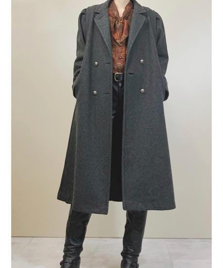 JOFELD MADE  IN U.S.A power sleeve dark gray coat-1485-10