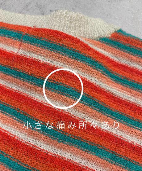 Rita colorful border rétro summer knit-2043-7