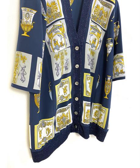 MORET TOKYO archaic design navy cardigan-2037-7