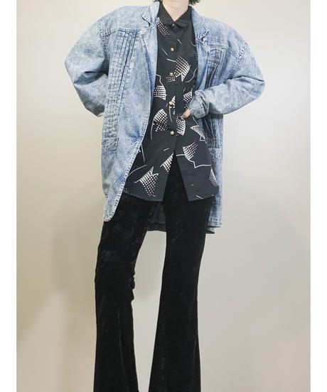 Chemical wash design denim jacket-1736-3
