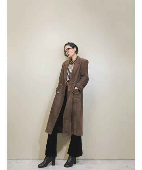Cizenne pig skin real leather plaid coat-1536-11