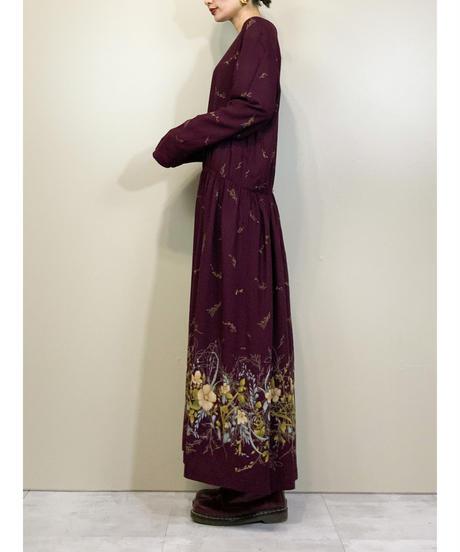 BEDFORD FAIR MADE IN U.S.A burgundy dress-1504-11
