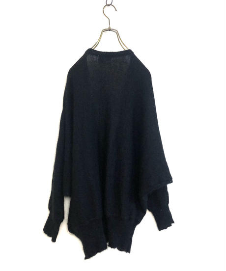 Pure dau decoration black knit cardigan-1705-2