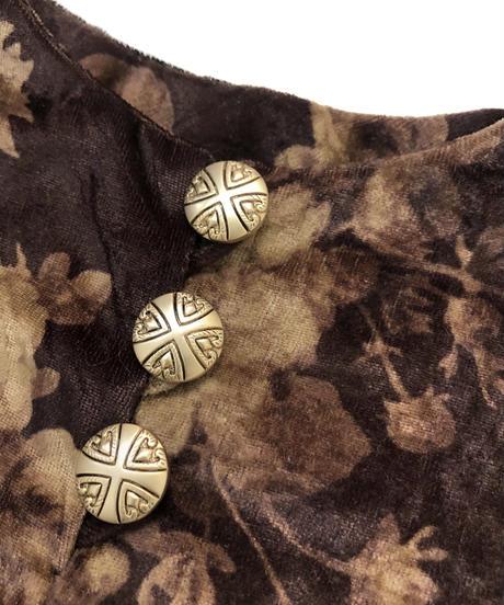 Vintage flower metal button tops-863-1