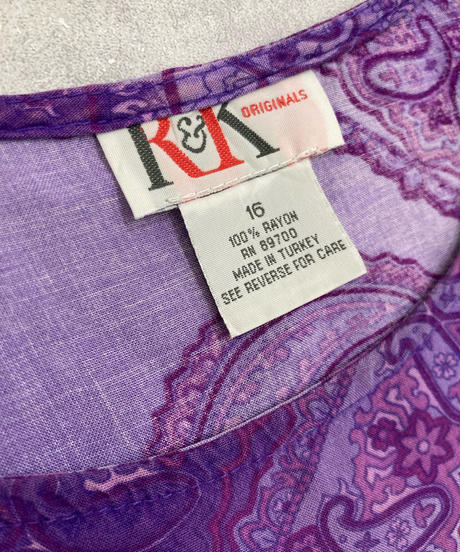 MADE IN TURKEY R&K exotic purple long dress-1908-5