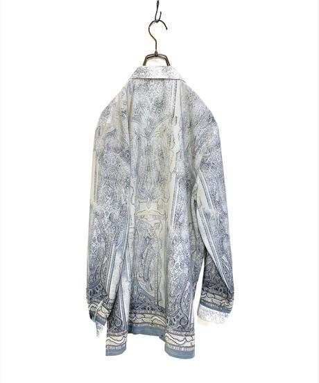 Petitjour dull blue oversize shirt-2060-7